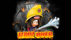 Image for Flame Over tasks players with rescuing workers and cats before being consumed by fire