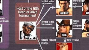 Image for Dead or Alive 5 site offers explanatory character chart
