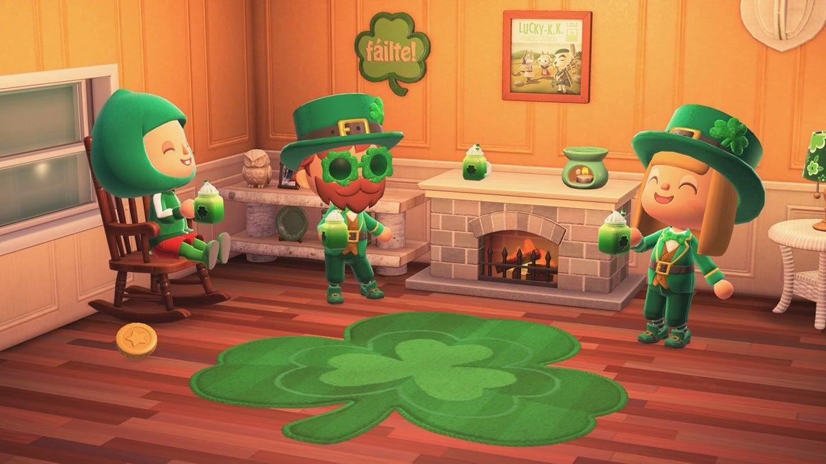Image for Animal Crossing spring update | Shamrock Day & more seasonal items