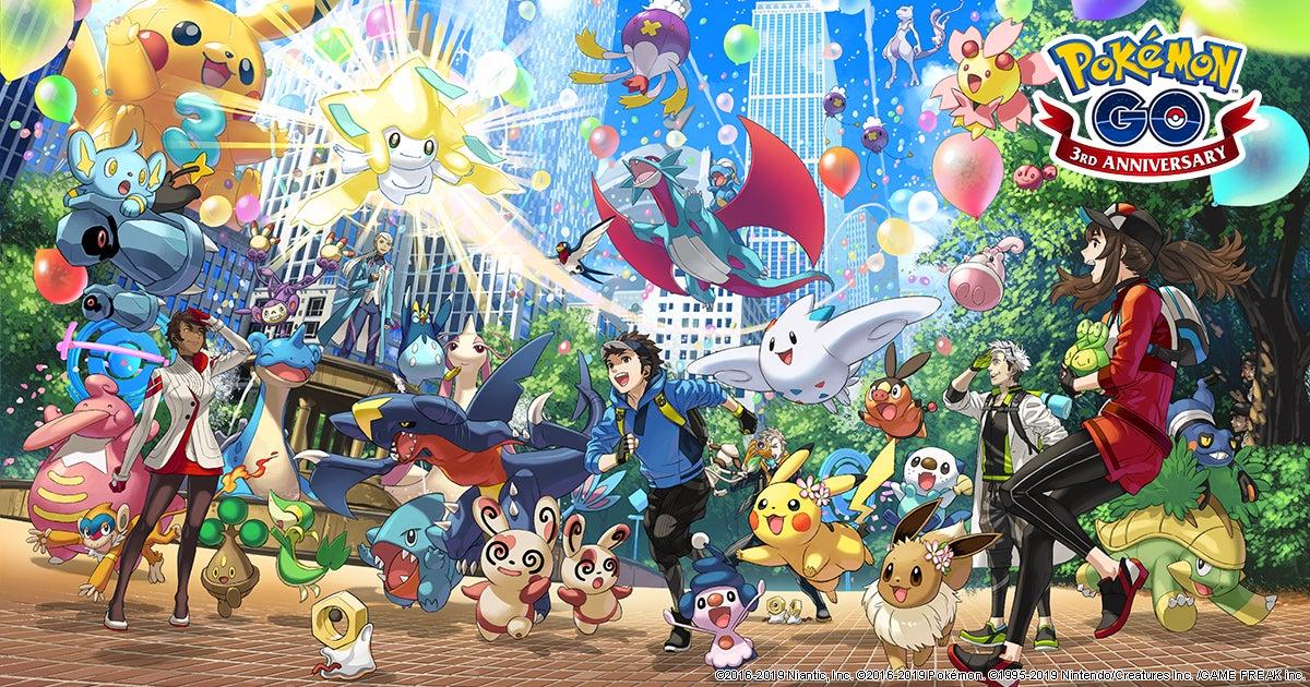 Image for Pokemon Go Third Anniversary Event kicks off tomorrow, June 28