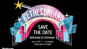 """Image for Bethesda's E3 invite features game-themed amusement park with two attractions """"coming soon"""""""