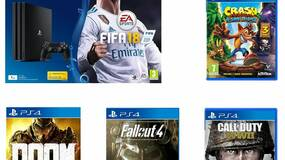 Image for Get a PS4 Pro with FIFA 18, Crash Trilogy, Call of Duty: WW2, Doom, and Fallout 4 for £339