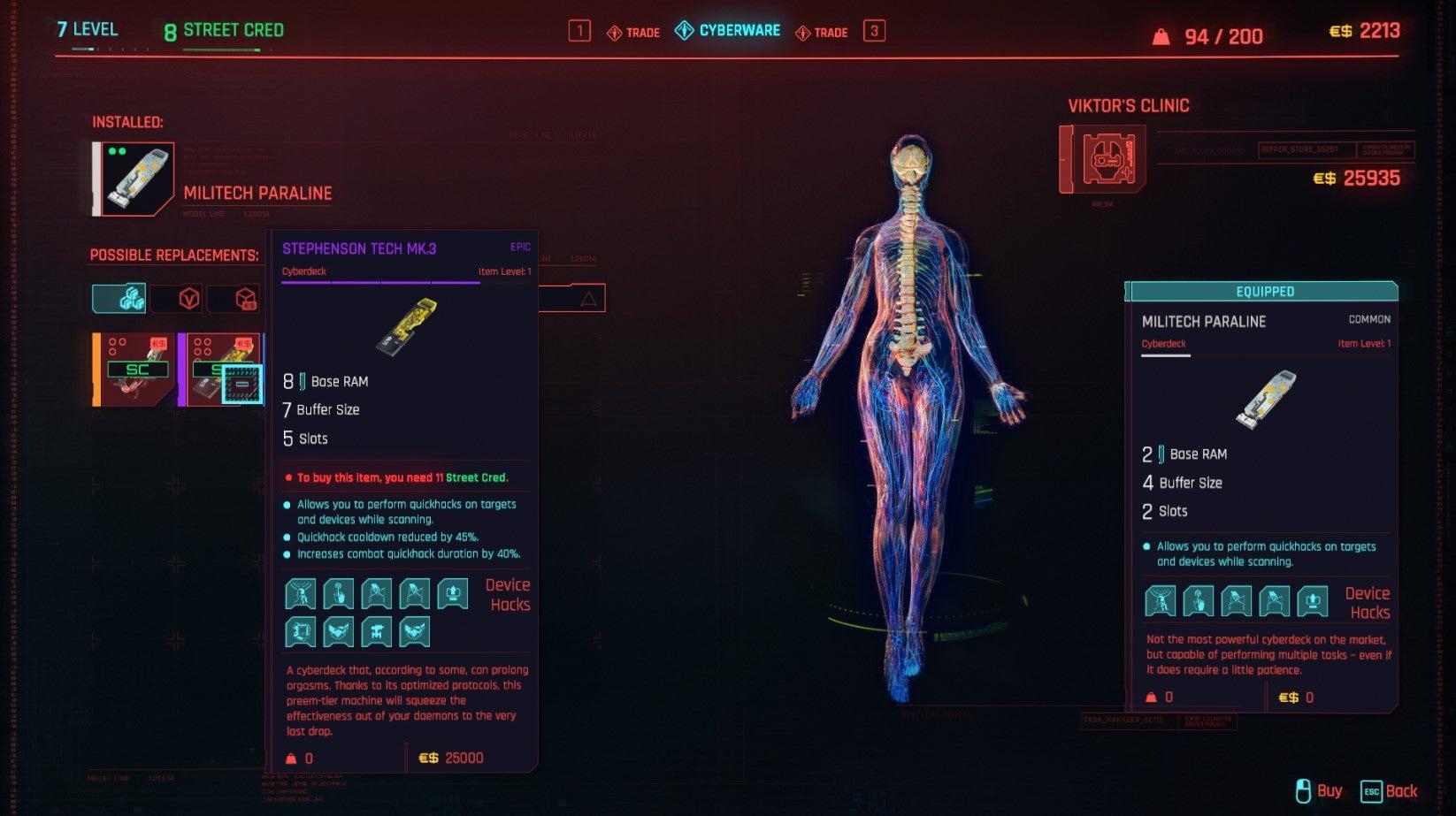 Image for Cyberpunk 2077 Best Quickhacks   How to get a better Cyberdeck