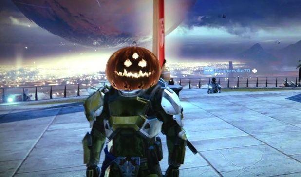 Image for Destiny Halloween update adds pumpkin head vanity item