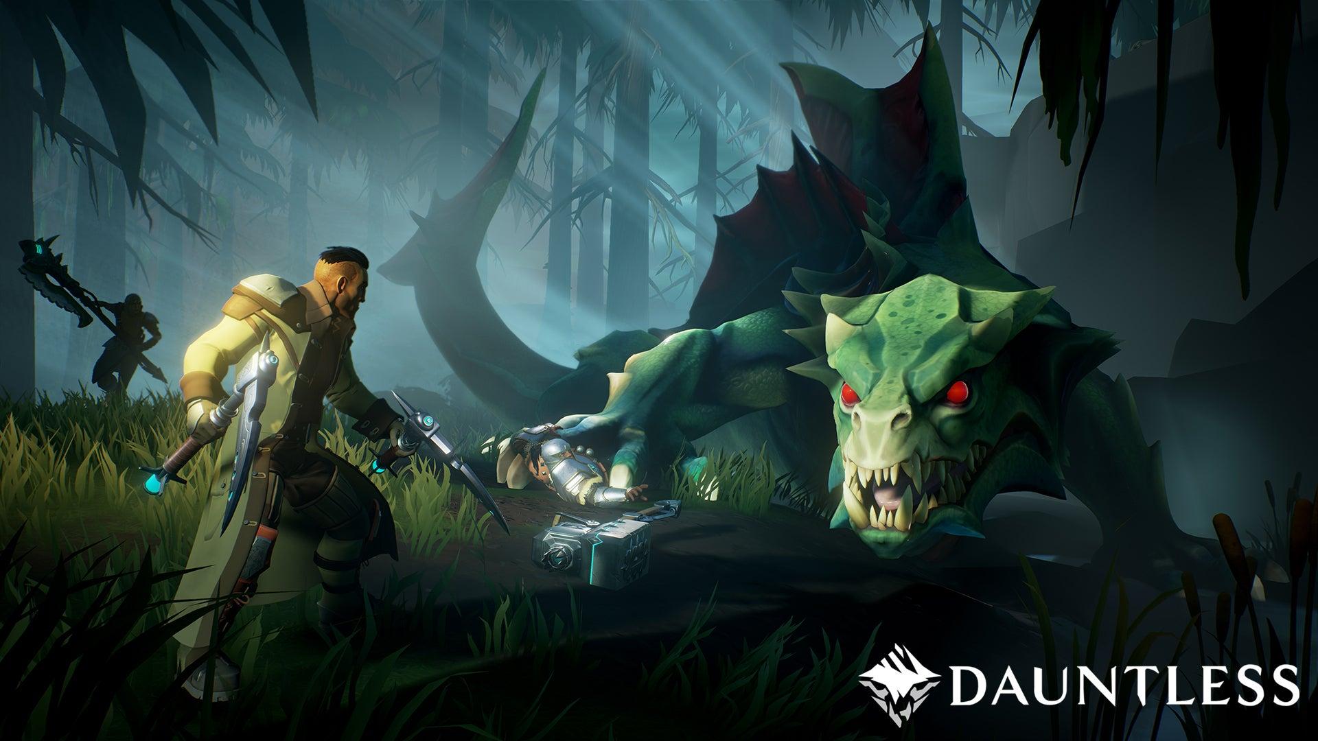 Image for Dauntless looks like Fortnite via Monster Hunter, heading into open beta in May