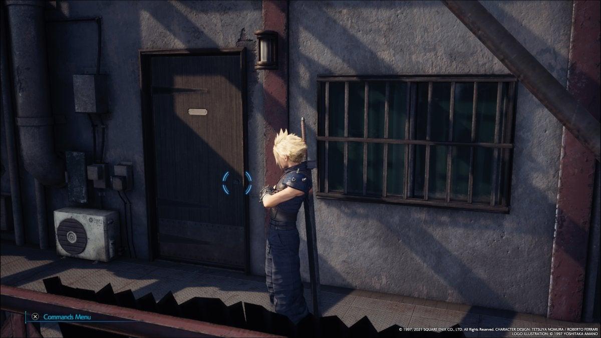 Image for Final Fantasy 7 Remake Intergrade fixes the texture on Cloud's door