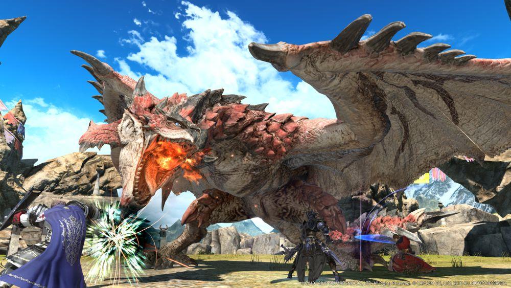 Image for Monster Hunter World's Rathalos invades Final Fantasy 14 Online today