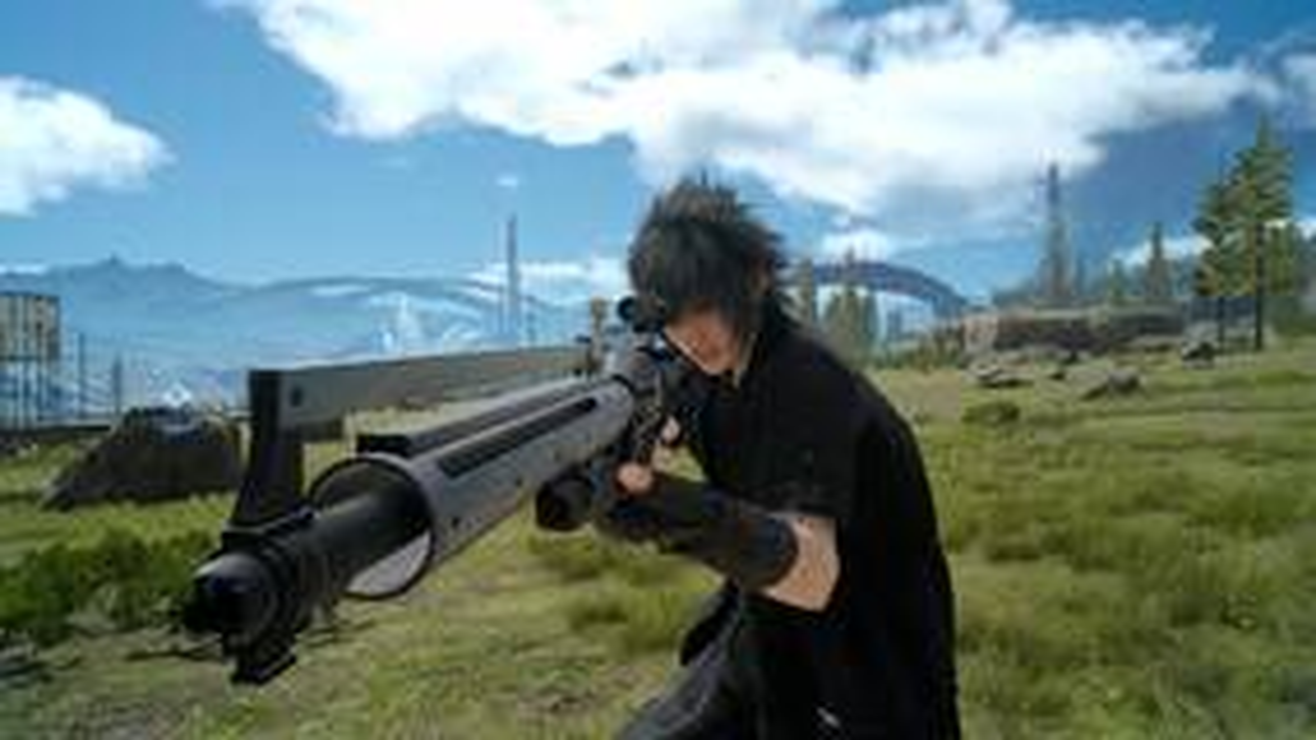 Image for Final Fantasy 15 combat screens show rifle, handgun, circular saw in action