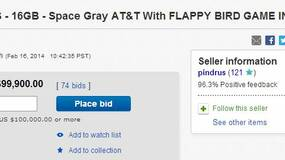 Image for iPhone with pre-installed Flappy Bird app sitting at $99,900 on eBay right now