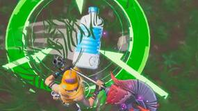 Image for Fortnite: Land a Bottle Flip on a target near a giant fish, llama, or pig