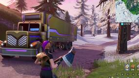 Image for Fortnite Season 10: search between a basement film camera, a snowy stone head and a gold big rig