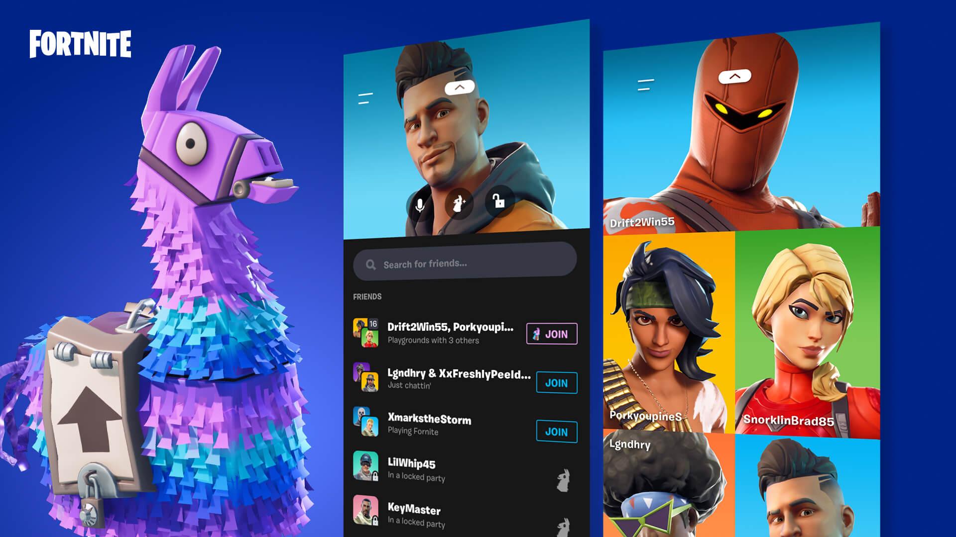 Image for Fortnite v10.31 update adds Party Hub app for mobile