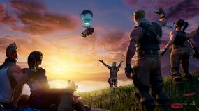 Image for Fortnite: Complete the skydiving course over Dusty Depot after jumping from the Battle Bus