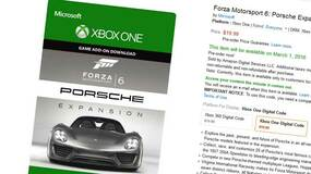 Image for Forza 6 Porsche Expansion dated, priced in Amazon slip up