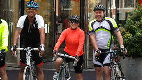 Image for GamesAid cyclists complete third Brighton-Cologne charity ride