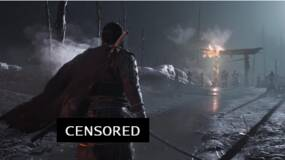 """Image for Ghost of Tsushima """"depicts a man's exposed buttocks as he bathes in a hot spring"""""""