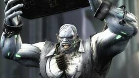 Image for Solomon Grundy's about to smash The Flash in these Injustice: Gods Among Us screens