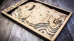Image for This map of GTA 5's Los Santos carved in wood is perfect