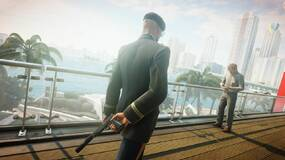 Image for Hitman 2 shows you a grid on the floor where security cameras are looking