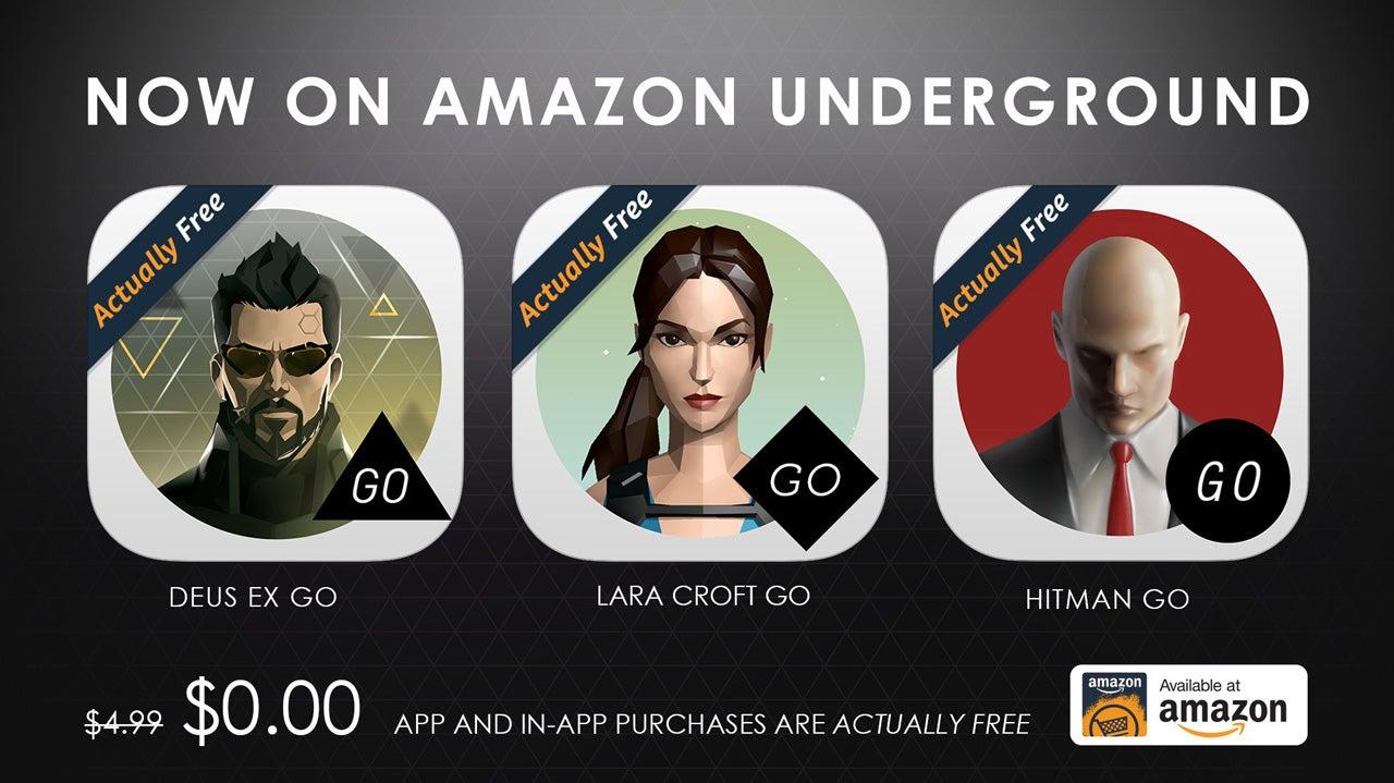 Image for Hitman, Deus Ex and Lara Croft GO apps now free through Amazon Underground