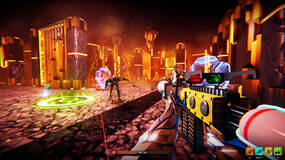 Image for Watch the reveal trailer for Hypergun, the roguelite shooter with a Far Cry 3: Blood Dragon-style look