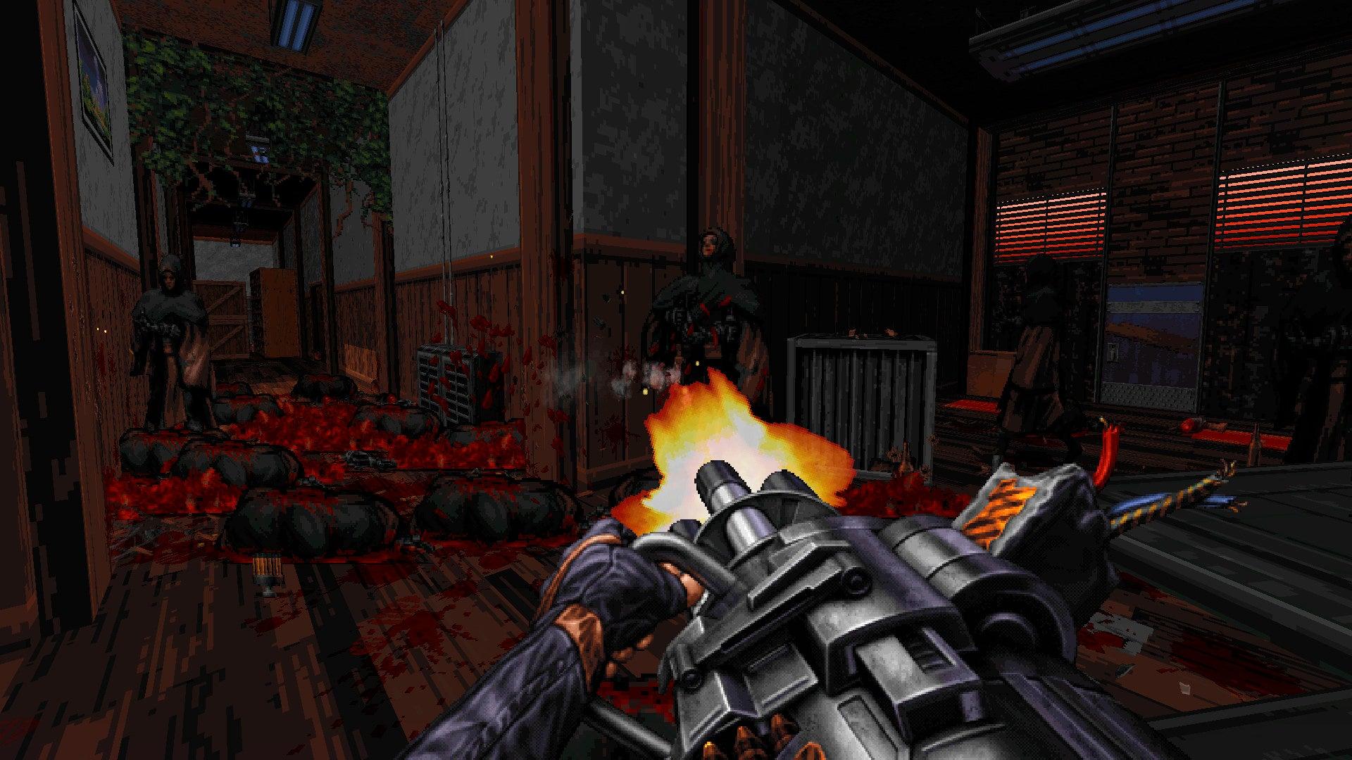 Image for Ion Maiden is a modern shooter built on Duke Nukem 3D's Build engine