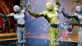Image for Kinect Star Wars media features droid dancing, lightsaber action