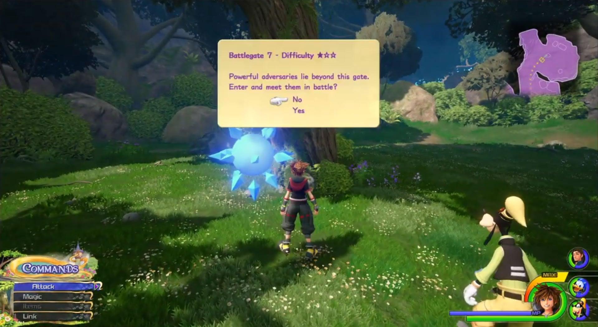 Image for Kingdom Hearts 3 Battlegates: battlegate locations for every combat challenge