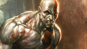 Image for God of War: Ascension Legacy Bundle contains garnet red PS3, all games in series