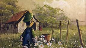 Image for Artist adds video game and sci-fi characters to thrift store paintings