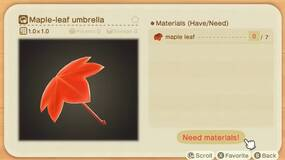 Image for Animal Crossing: New Horizons - Maple Leaf recipe list