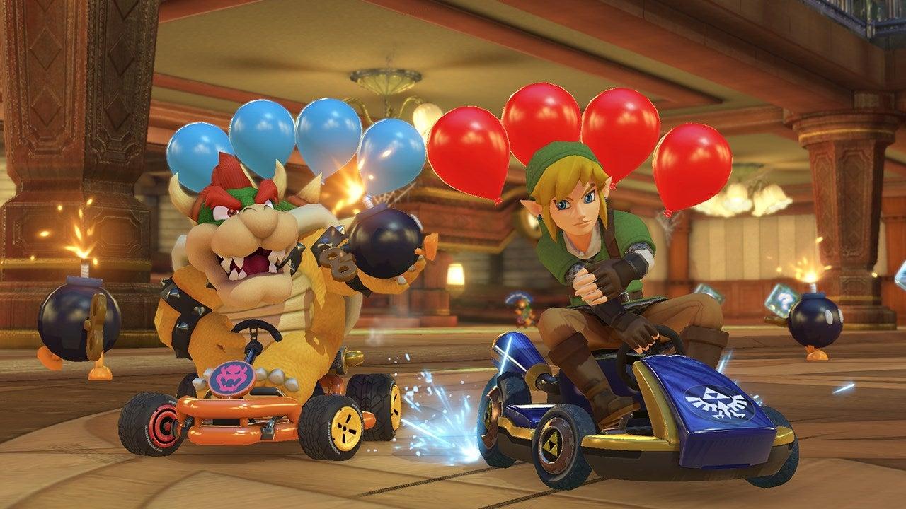 Image for Mario Kart 8 Deluxe videos show off Battle Modes Piranha Plants vs Spies,  Balloon Battle, more