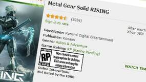 Image for Rumour - MGS: Rising to get E3 re-reveal with new trailer, new art emerges