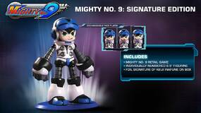 Image for Mighty No. 9: Signature Edition features a neat 6.5 inch Beck statue with faceplates