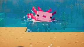 Image for Minecraft: Axolotls | How to tame an axolotl in the Cliffs & Caves update