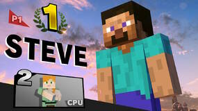 Image for Nintendo tells Super Smash Bros. Ultimate's Minecraft Steve to put his meat away in public