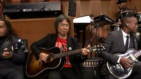 Image for Watch Shigeru Miyamoto and The Roots perform the Super Mario Bros. theme