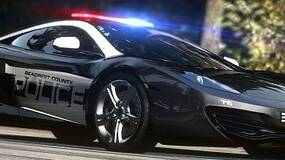 Image for NFS: Hot Pursuit cops trailer is full of red and blue lights