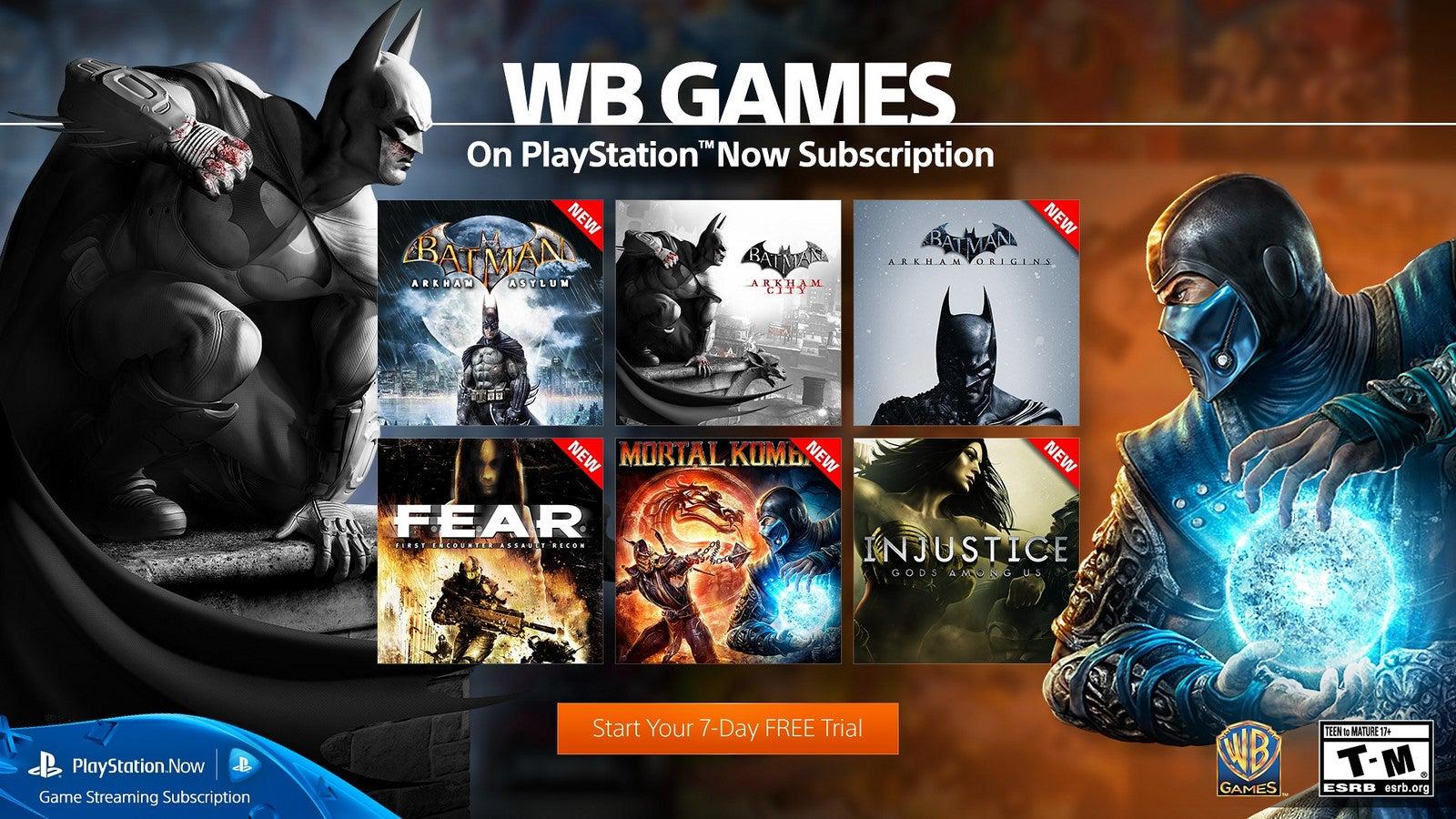 Image for Batman, Mortal Kombat, LEGO games coming to PlayStation Now next week