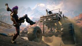 Image for Rage 2 extended gameplay shows off convoys, a guy punching himself in the face