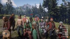 Image for Red Dead Online players are dressing up as clowns to take the piss out of Rockstar