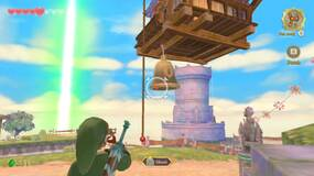 Image for Zelda Skyward Sword: how to get to Beedle's flying shop to buy adventure pouch & wallet upgrades