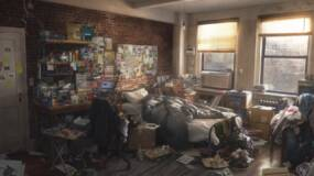 Image for Spider-Man concept art shows Spidey taking on Fisk and Mr. Negative, and the inside of his filthy bedroom