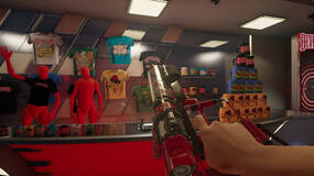 Image for Devolverland Expo is a first-person 'marketing simulator' out now for free