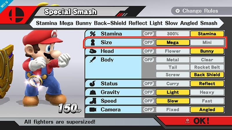 Image for Super Smash Bros. Wii U match customisation looks pretty extensive