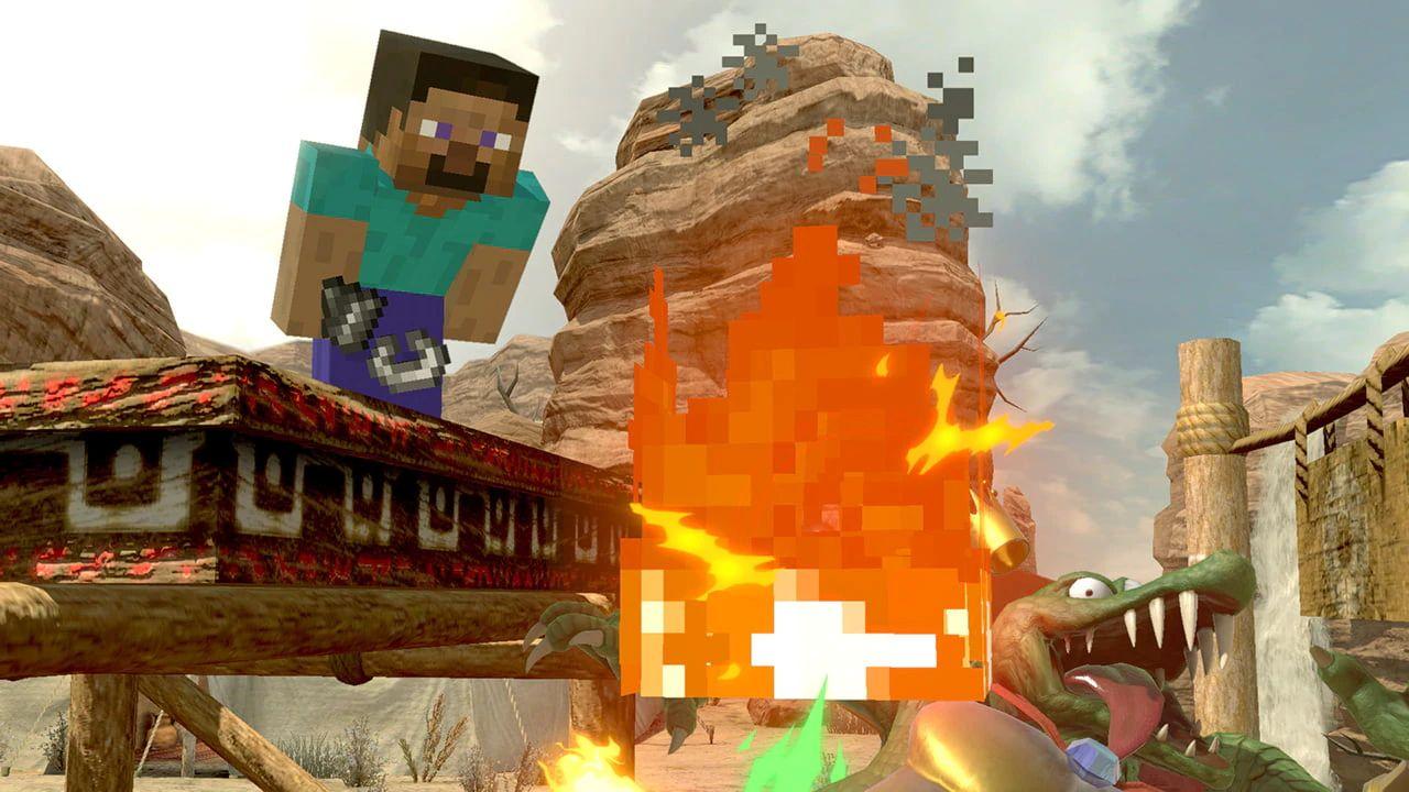 Image for Super Smash Bros. Ultimate Minecraft DLC releases on October 13