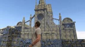 Image for Dark Souls Remastered files hide an early version of Bloodborne's Upper Cathedral Ward, so here it is running in GTA 5