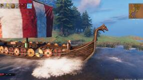 Image for Valheim players are dragging carts behind boats so they don't have to build bridges