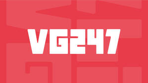 The VG247 logo in white on a red background