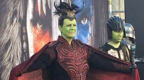 Image for Jamie Lee Curtis dressed up for the Warcraft premiere
